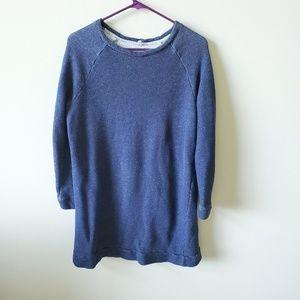 Lou & Grey Womens Blue Long Sweatshirt